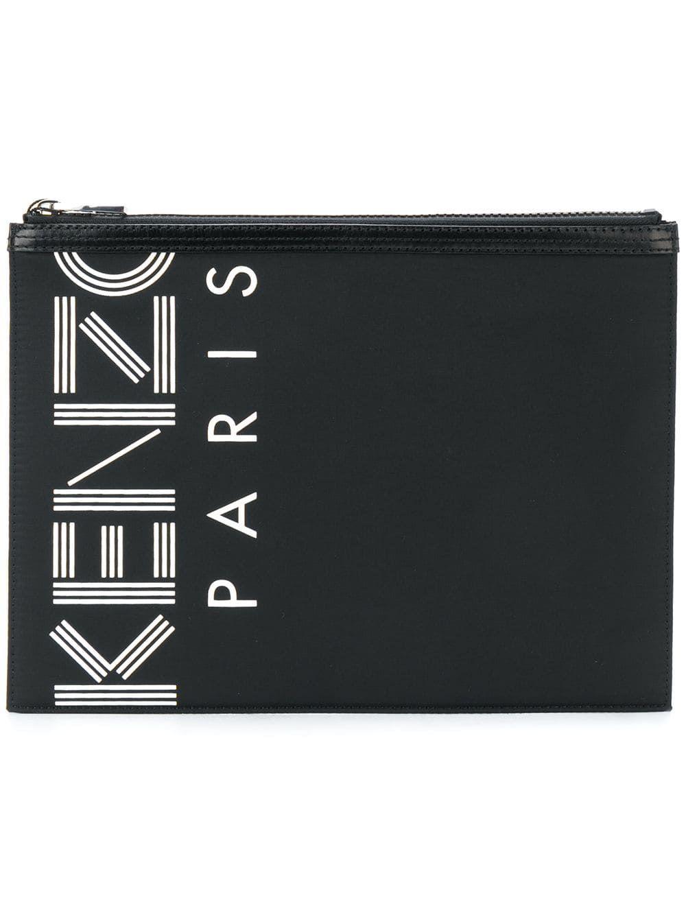 cca2a919ca Kenzo Kenzo Paris print clutch - Black in 2019 | Products | Designer ...