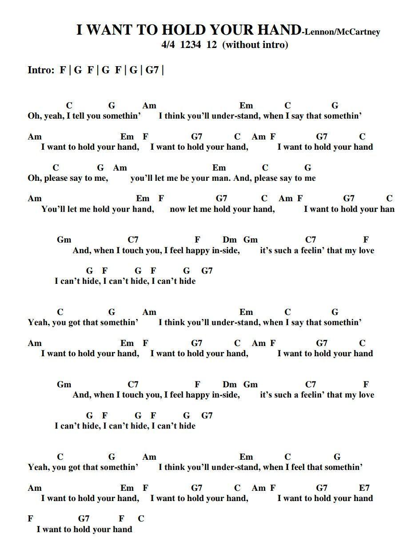 I Wanna Hold Your Hand Chord : wanna, chord, Beatles, Doctoruke.com, #guitarchords, Ukulele, Chords, Songs,, Guitar,, Songs