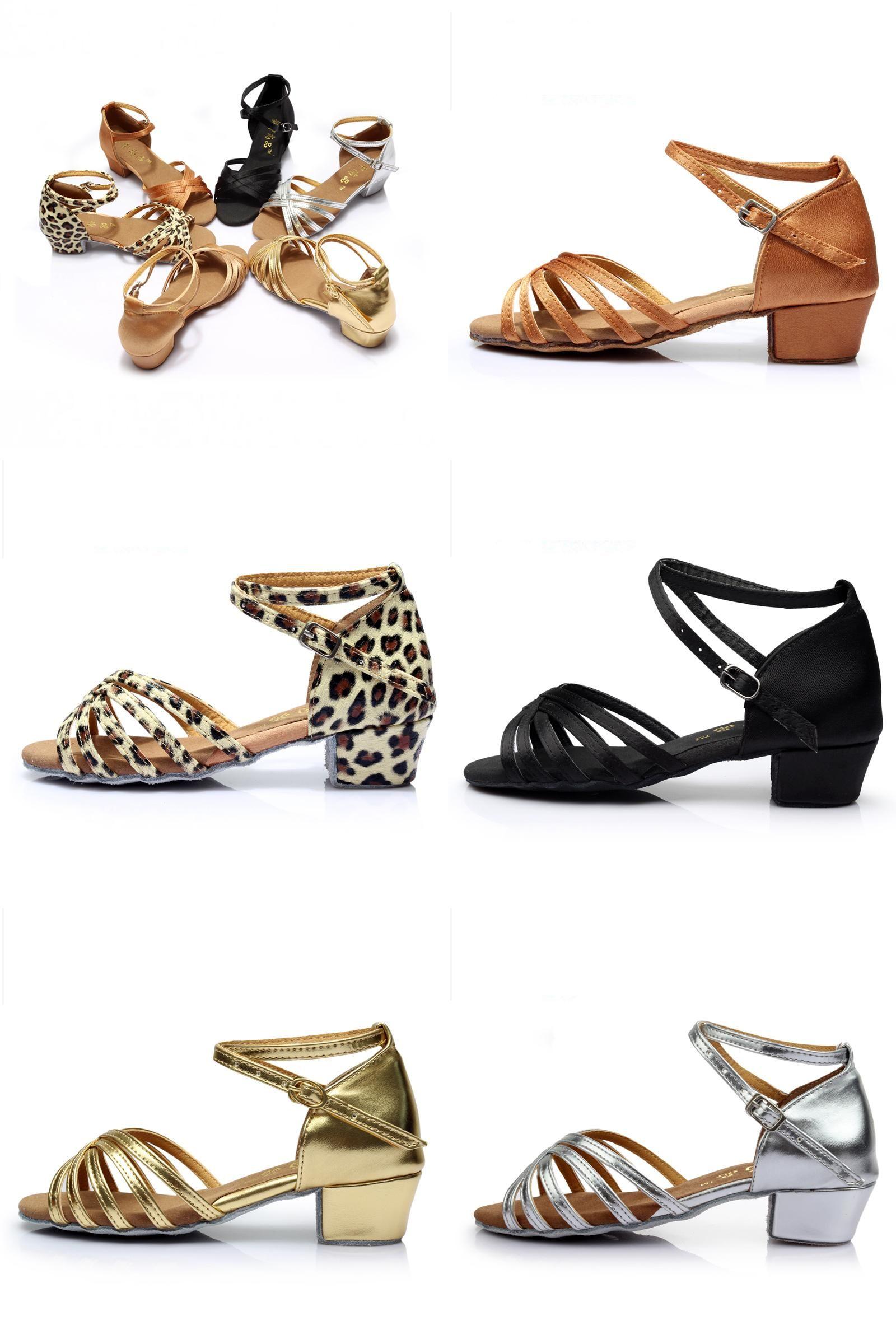 Visit to Buy  Ballroom Salsa Tango Latin Dance Shoes Low Heels Dancing For  Kids 960dbe1ed570