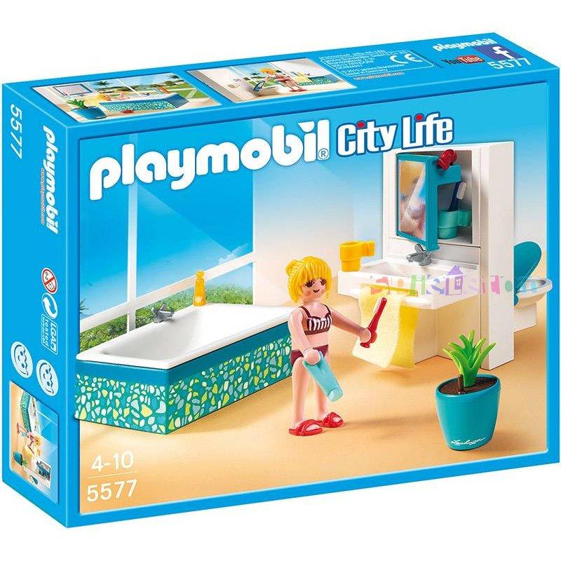 Bano Moderno Model 5577 Estado Nuevo Playmobil Villa De Lujo