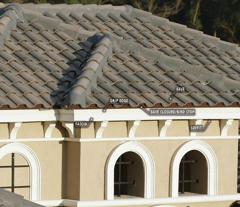Completing The Look Of Your Concrete Tile Roof Selecting The Drip Edge And Eave Closure Eagle Roofing In 2020 Clay Roof Tiles Concrete Tiles Roof