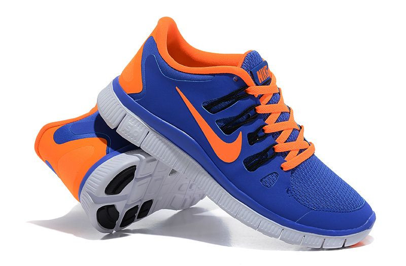 nike blue and orange running shoes