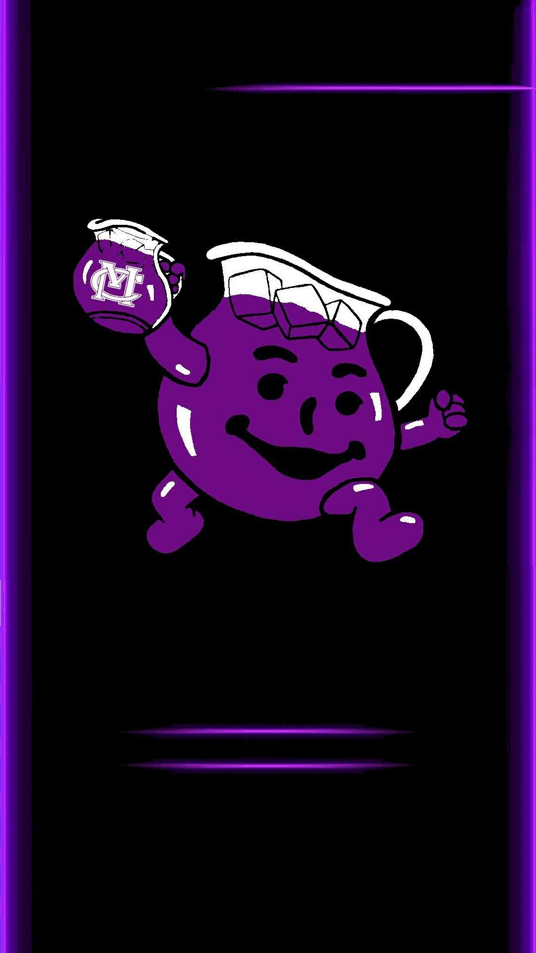 Kool - aid man in grape flavor.   Rock painting   Kool aid ... Purple Kool Aid Man
