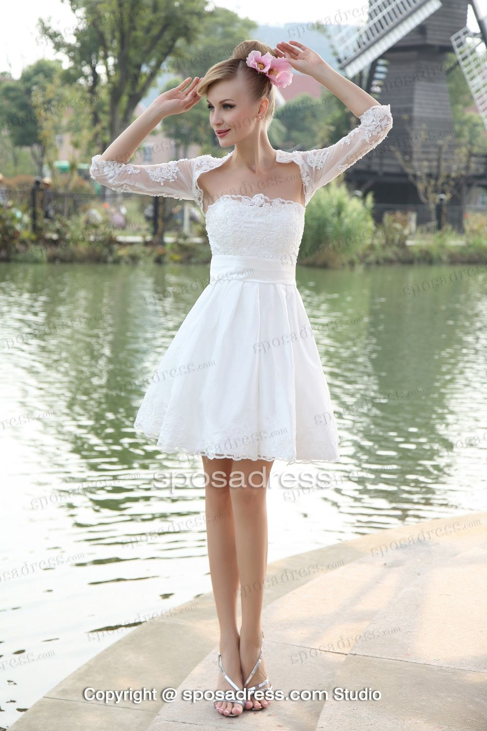 Cute dress for wedding buyretina pin by o on deniz gl ve kadn cute short white wiht black junglespirit Gallery
