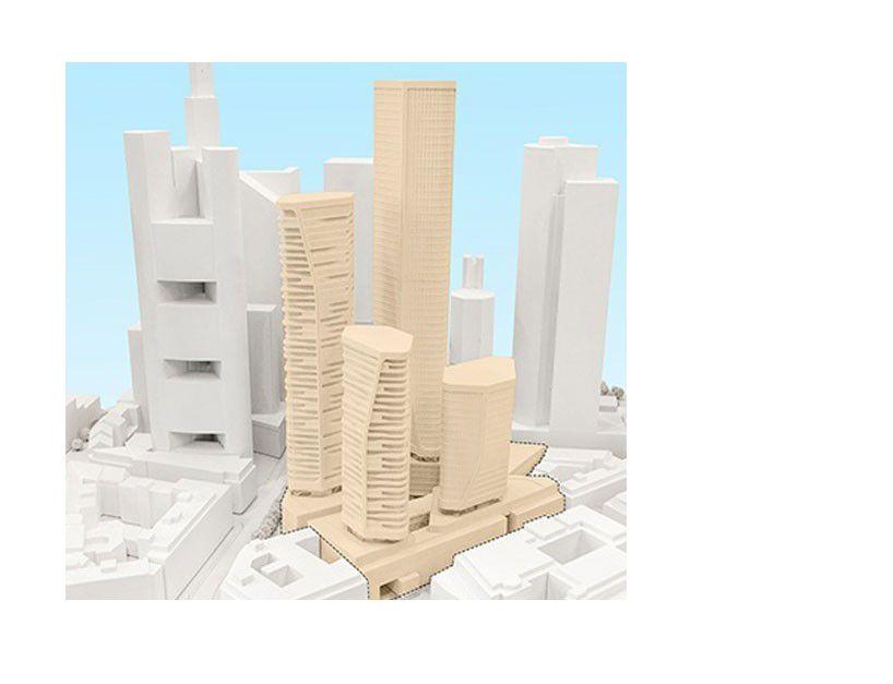 Vier neue Hochhäuser im DeutscheBankAreal Im November