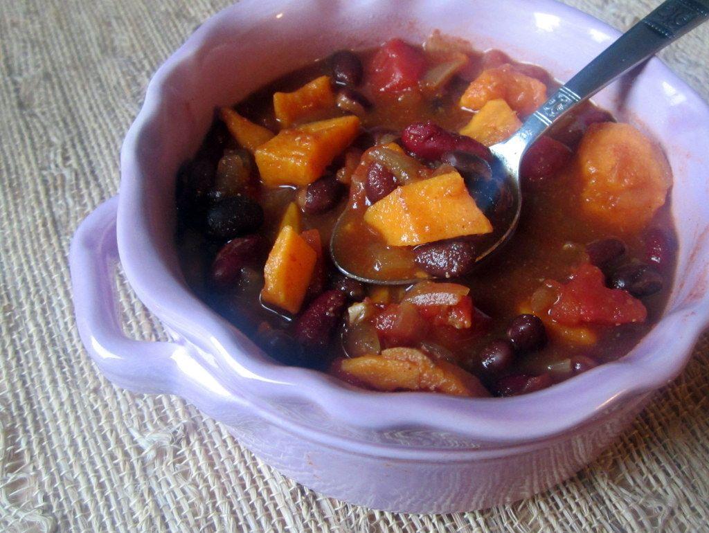 Spicy Sweet Potato Bean Chili Ambitious Kitchen Recipe No Bean Chili Sweet Potato Black Bean Chili Sweet Potato