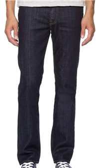 7 For All Mankind - Slimmy Stretch Slim Straight Jeans: A slimmer fitting, dark pair of jeans is an easy go-to for any casual party, as long as you wear them in a polished way – like with a great jacket or sweater, shirt, and maybe a tie.