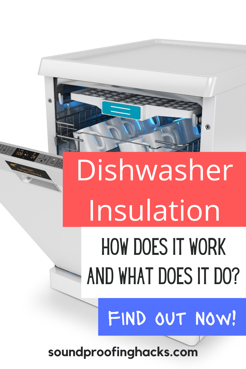 Reduce Dishwasher Noise With An Insulation Blanket Blanket Insulation Soundproofing Diy Sound Proofing