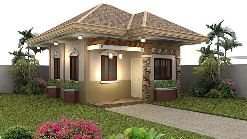 Small house exterior look and interior design ideas tiny for Small house design with terrace