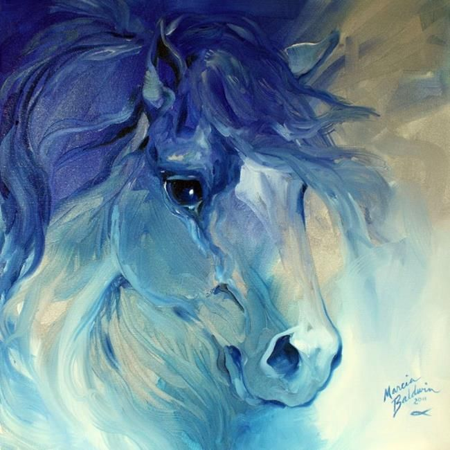 Silver Blues Equine Abstract Horse Art Horse Painting Horse Sketch