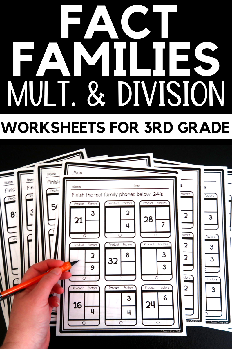 Fact Family Worksheets Multiplication and Division 3rd ...