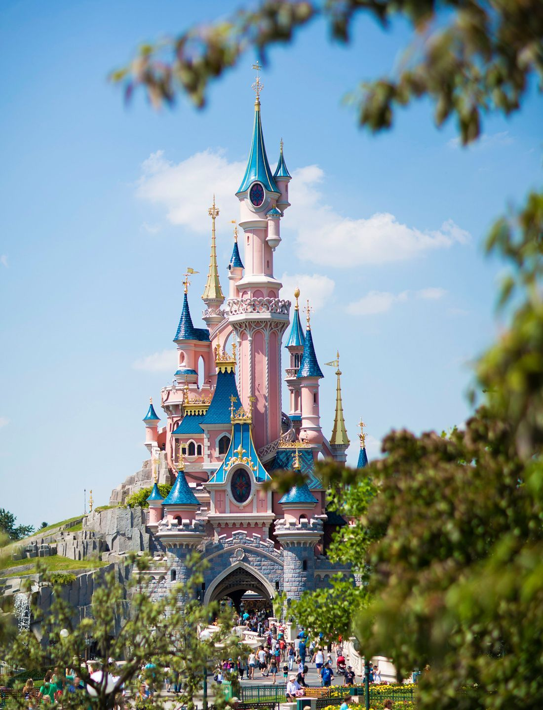 Disneyland Jusquaux Oreilles Sourire Chateau Dormant Mickey