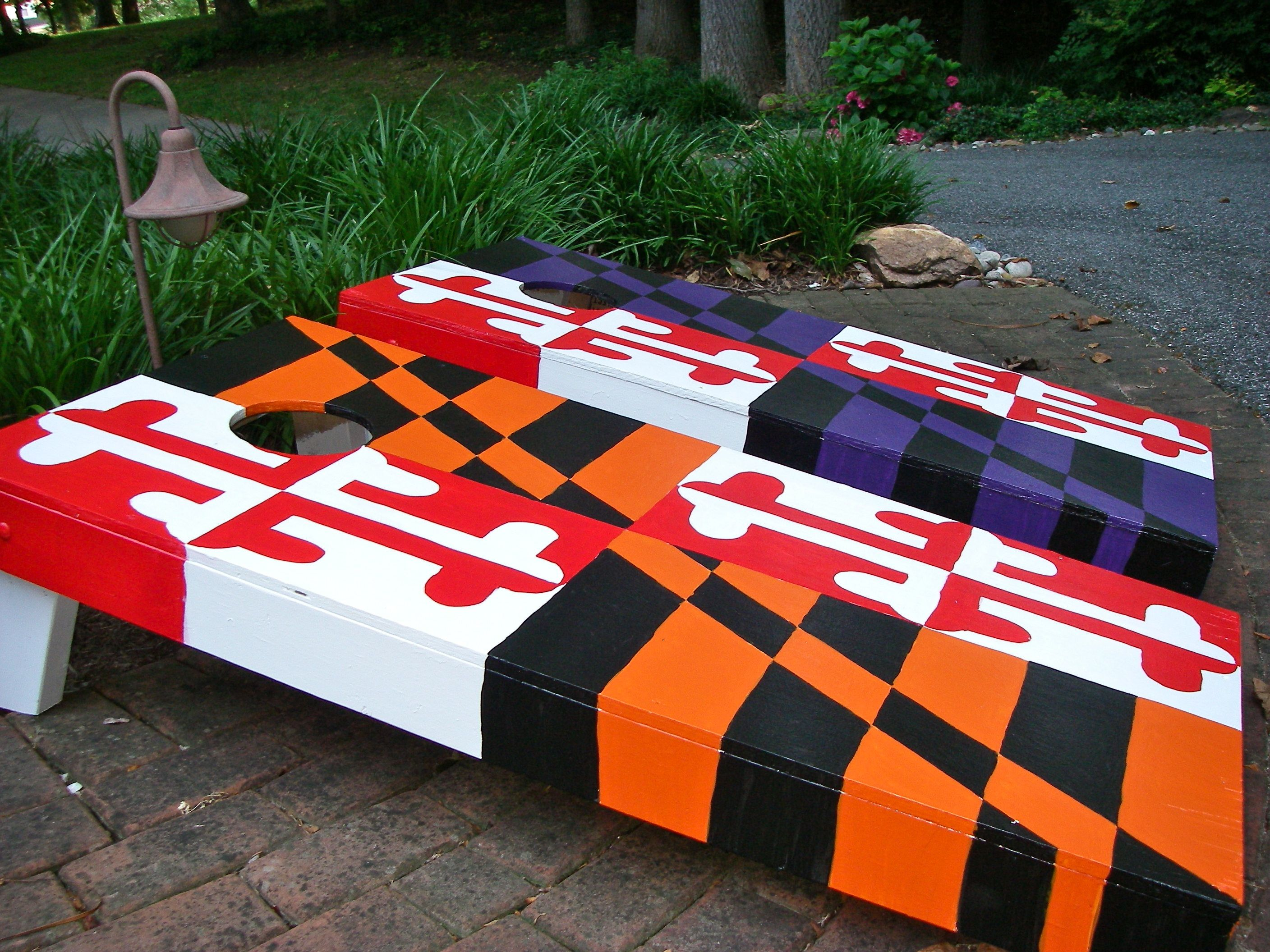 my design corn hole boards themed to marylands great teams ravens - Cornhole Design Ideas