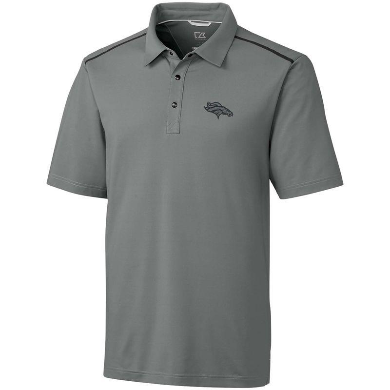 Denver Broncos Cutter   Buck Fusion Polo – Gray  415809625