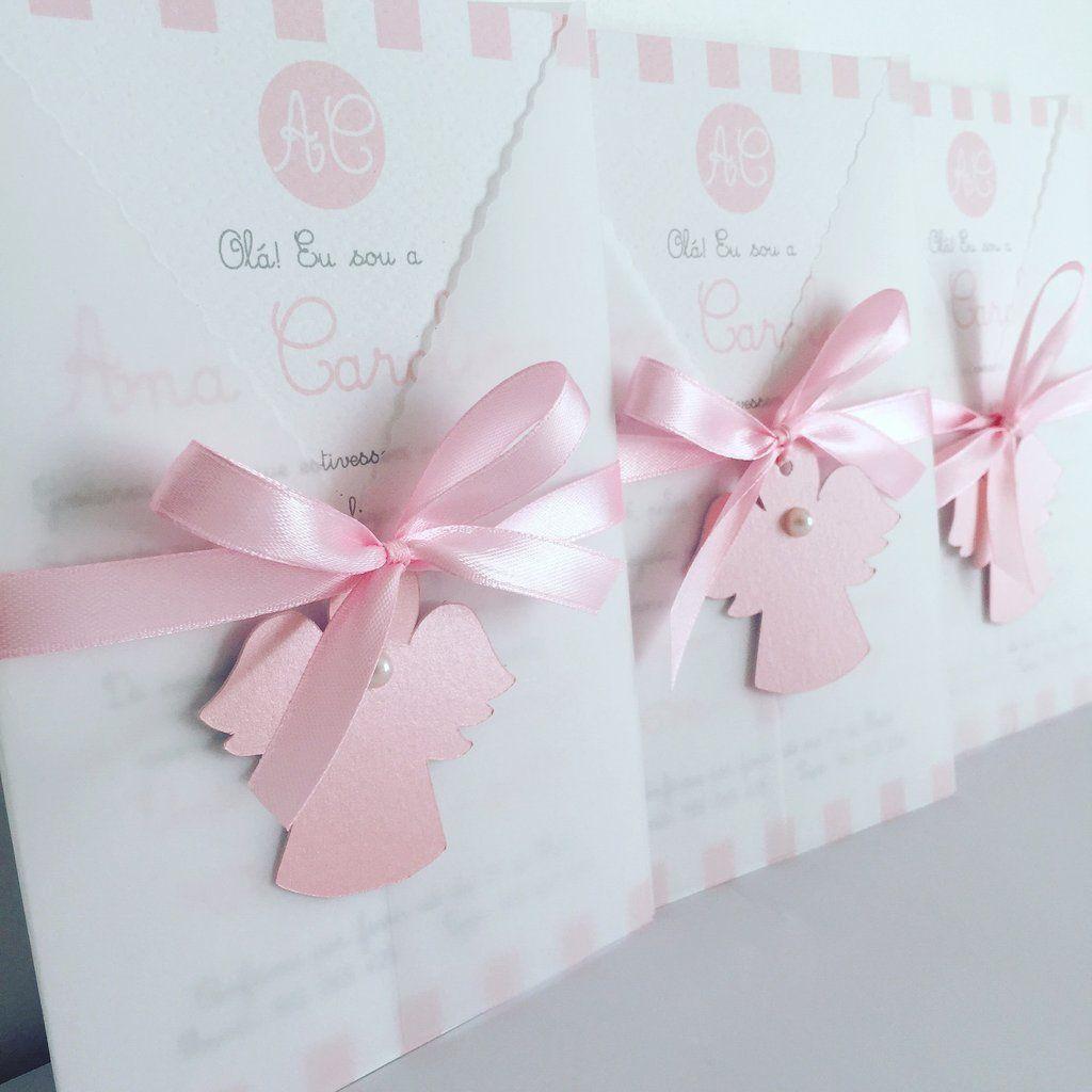 Convites personalizados anjinho rosa bautizo primera comunion convites personalizados anjinho rosa altavistaventures Gallery
