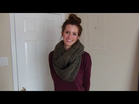 How to Knit an Infinity Scarf - YouTube | Crochet | Pinterest