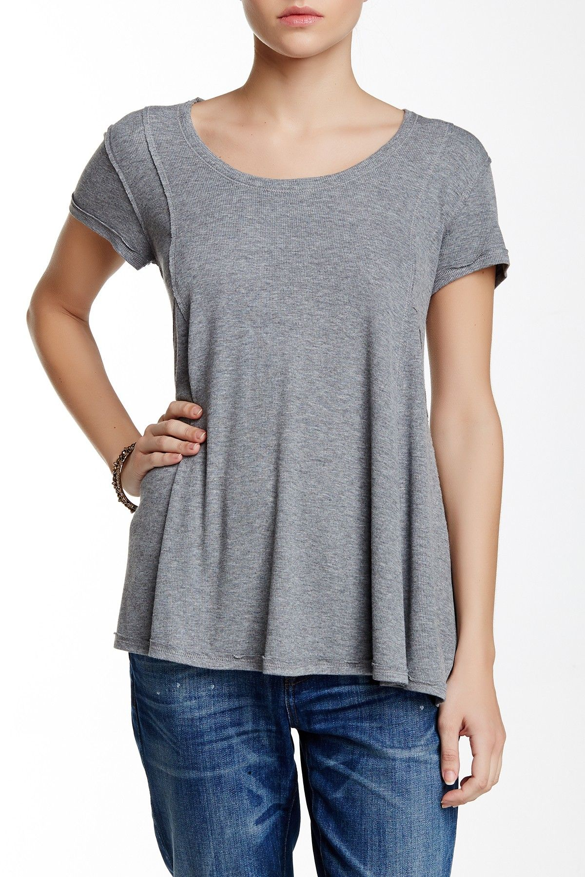 Cap Sleeve Seamed Swing Tee by Heather by Bordeaux on @nordstrom_rack