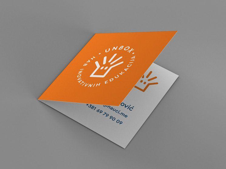Unbox Hub Business Card Business Card Design Inspiration Business Card Design Folded Business Cards Business Cards Creative