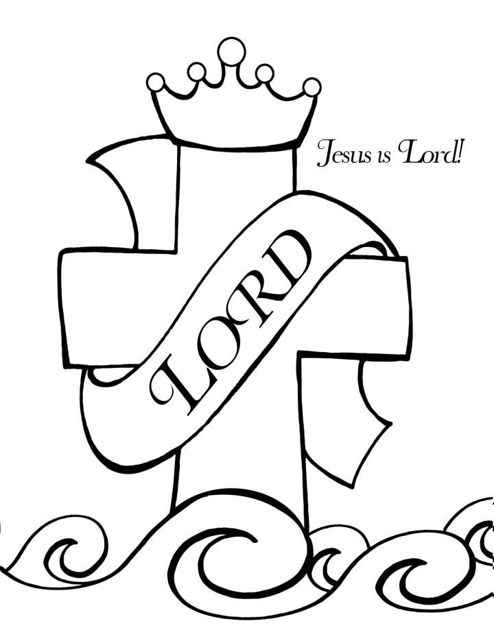 GOSPEL COLORING BOOK  5 pages Jesus is King Kids version of who