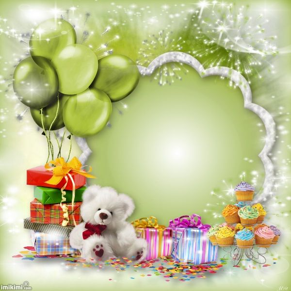 Frame Psd Happy Birthday With Images Happy Birthday Frame