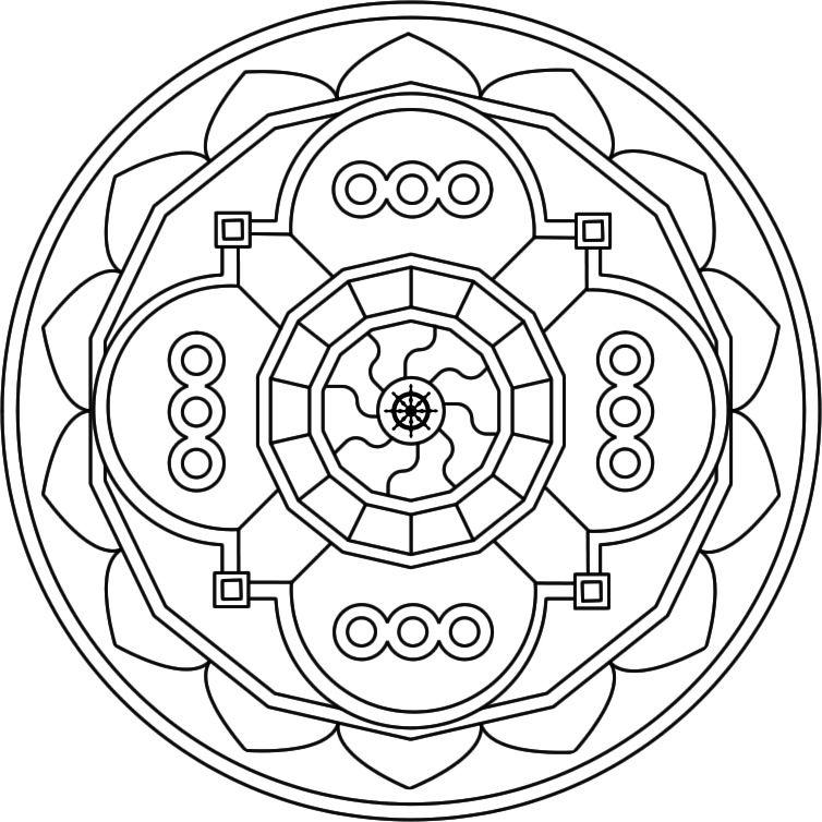 Listado de mandalas para pintar o colorear  Mandalasparatodoscom