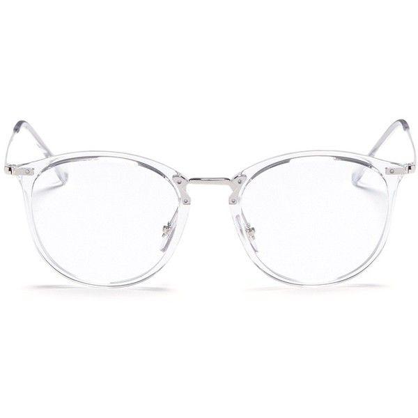 b9567a647 Ray-Ban 'RB7140' acetate front metal Wayfarer optical glasses featuring  polyvore, women's fashion, accessories, eyewear, eyeglasses, white, ray-ban  eye ...