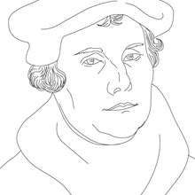 MARTIN LUTHER German Protestant reformer coloring page ...