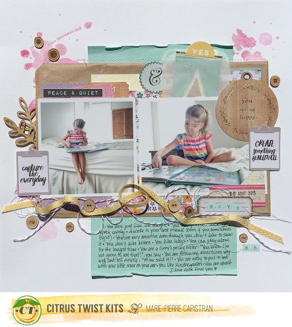 Marie-Pierre: Citrus Twist Kits - a layout with the PL kit