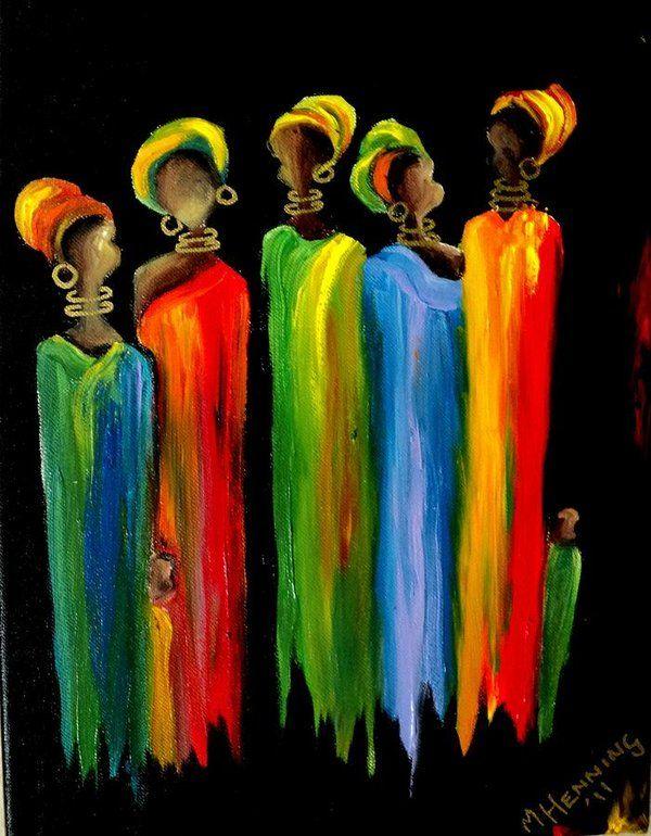Sisters2 Art Print by Marietjie Henning #afrikanischerstil