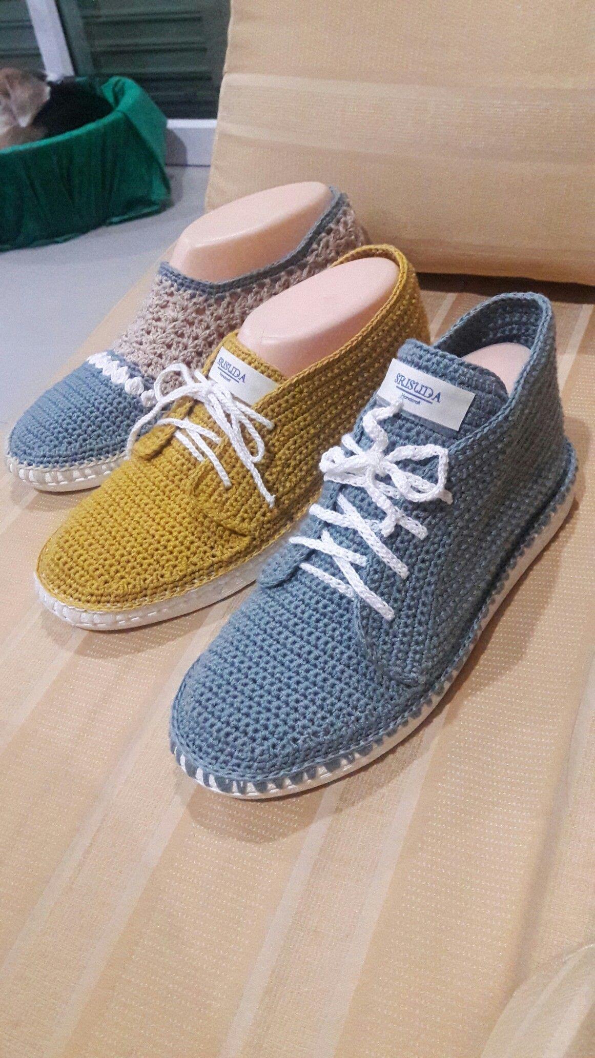 Pin von Srisuda Bailey auf my crochet shoes | Pinterest | Schuhe ...