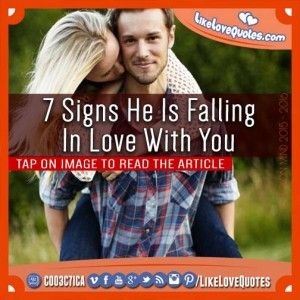 signs hes falling in love over text