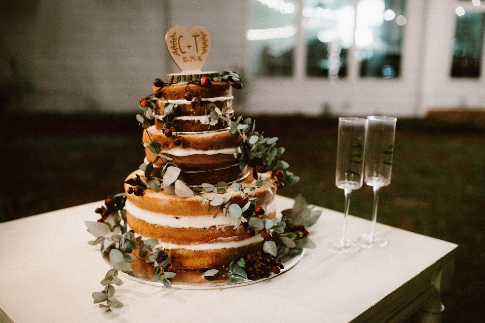 Rustic Farm Wedding Cake Goldsboro Nc Venue