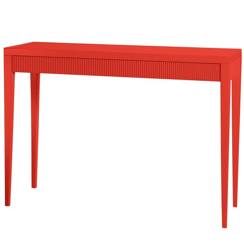Admirable Grooved Panel Chatham Lacquer Console Table Bright Red 19 Download Free Architecture Designs Scobabritishbridgeorg