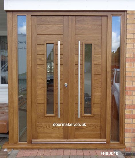 Contemporary Front Doors, oak iroko and other wood