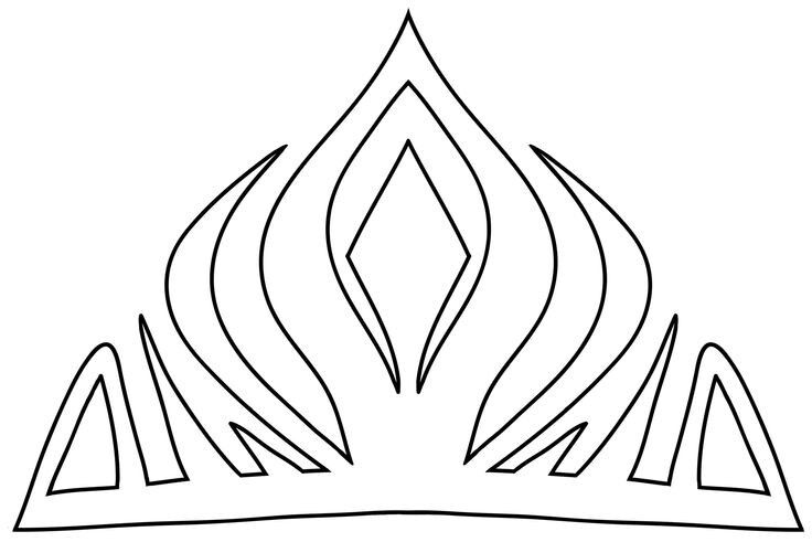 ElsaS Crown Template DisneyS Frozen  Cake How ToS