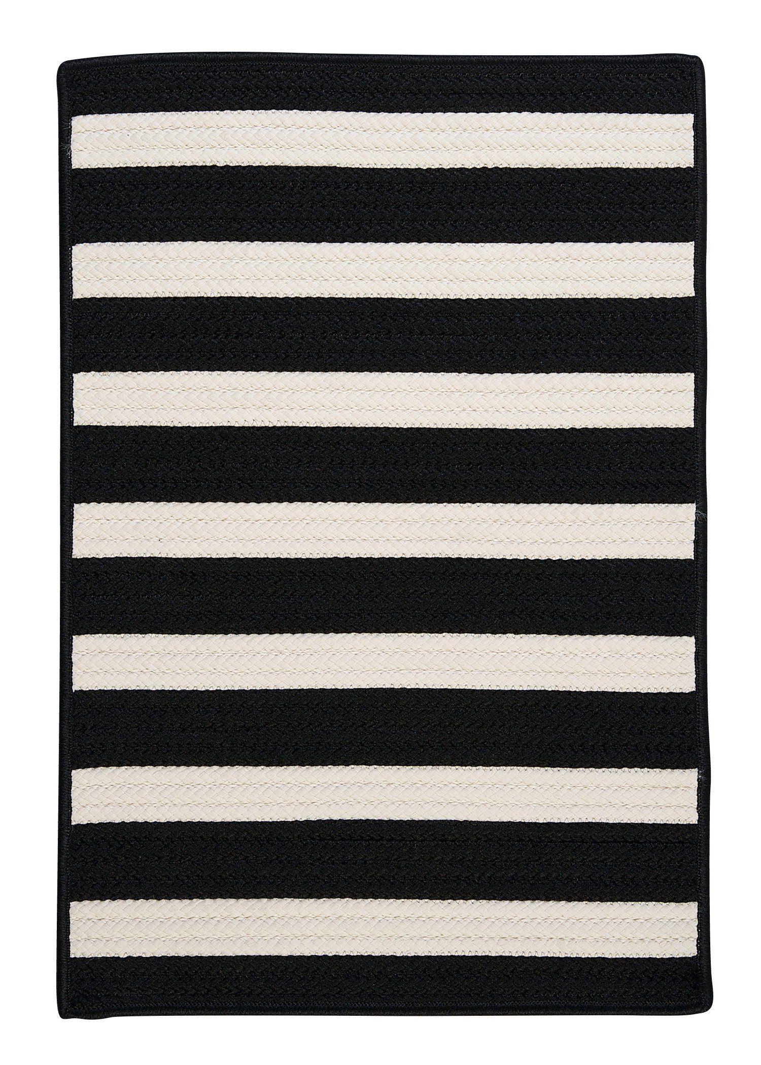Colonial Mills Stripe It Tr89 Black White Indooroutdoor Area Rug