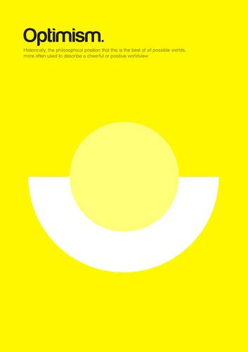 Kickstarting Big Philosophical Ideas Reduced To Simple Shapes Minimalist Poster Design Graphic Poster Optimism