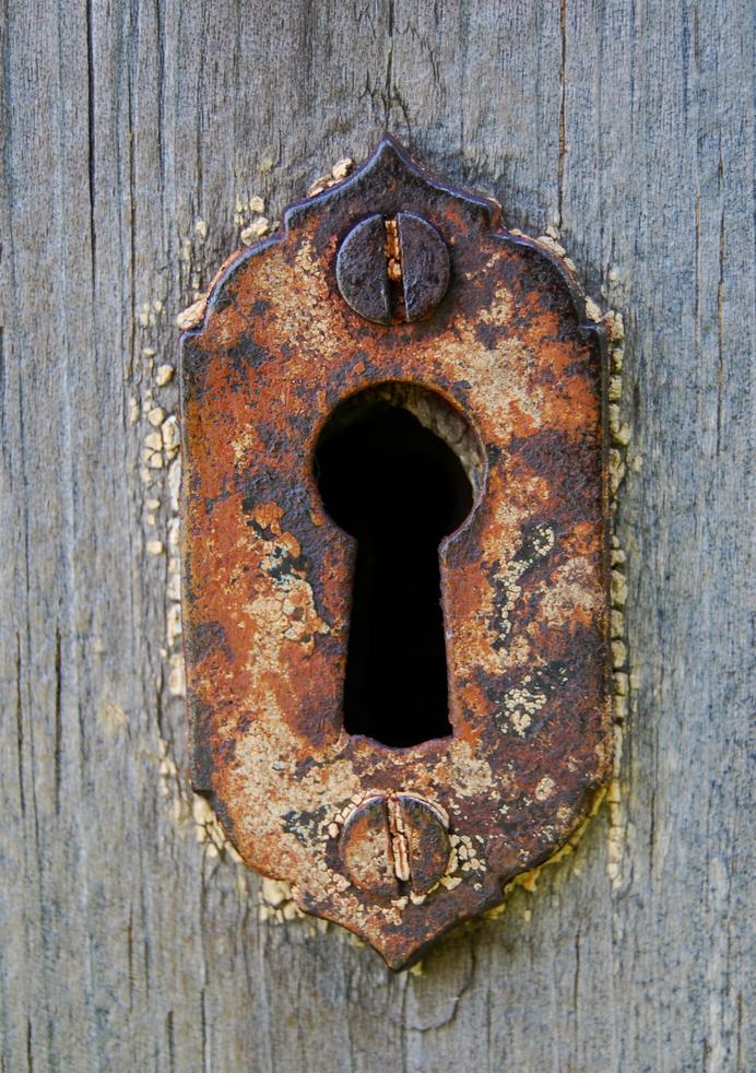 fairy tale like pictures, vintage keyhole Door knockers