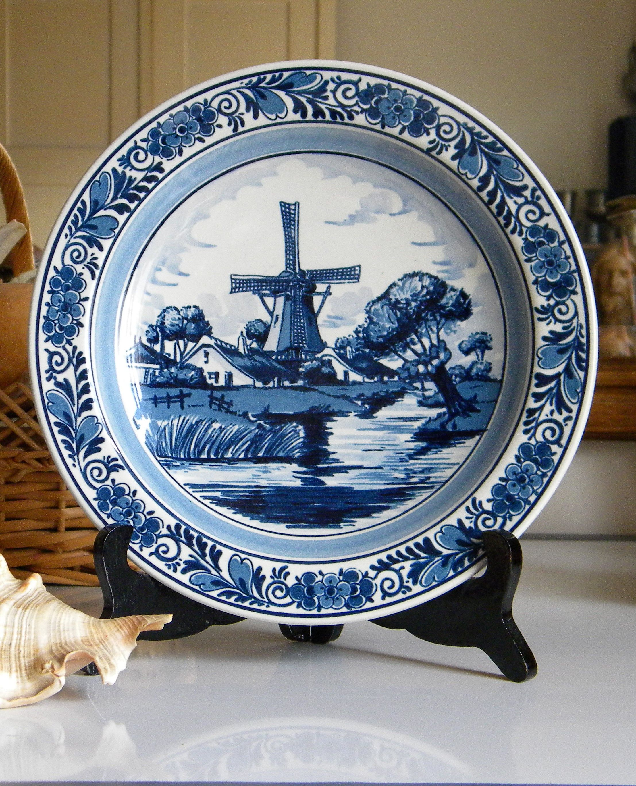 Blue And White Decorative Wall Plates Stunning The Dutch Plate Is Entirely Hand Painted With Original Cobalt Blue Review