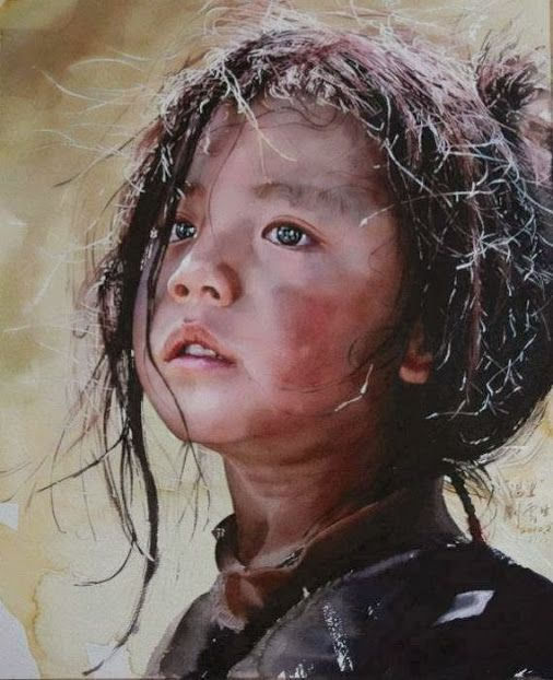 Watercolor Painting By Chinese Artist Liu Yunsheng Watercolor