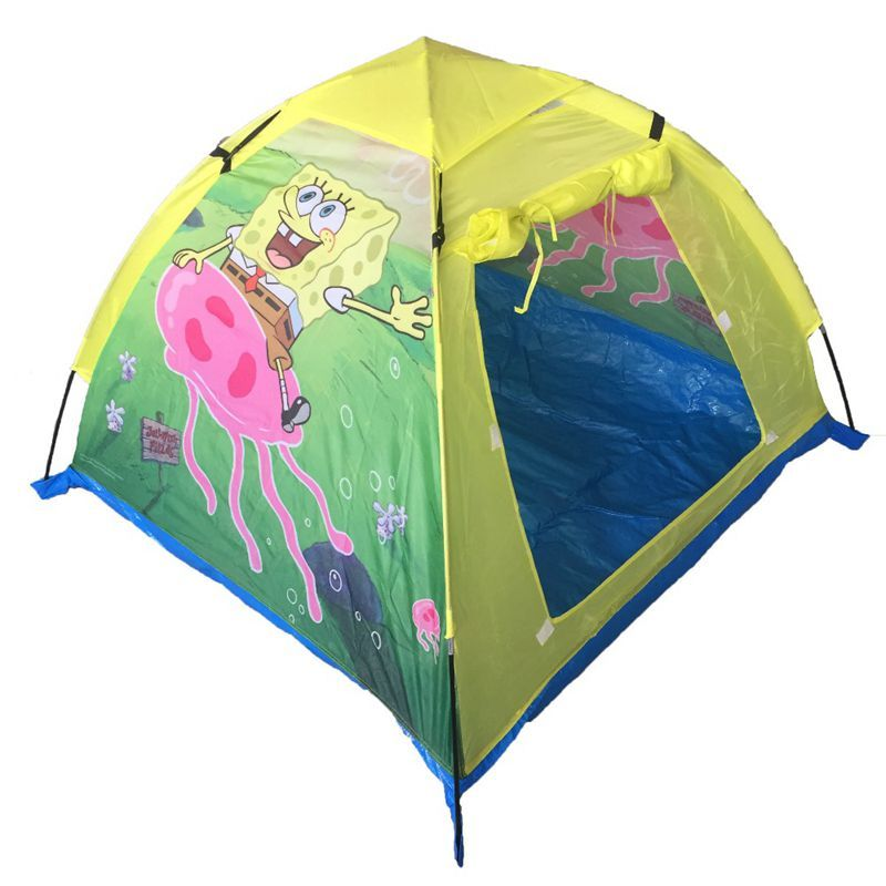 Cute Sponge Bob Durable Play Tent for Children  sc 1 st  Pinterest : spongebob play tent - memphite.com