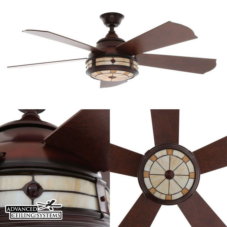 Hampton Bay Savona Stained Glass Ceiling Fan Find More Unique Tiffany Style Fans At