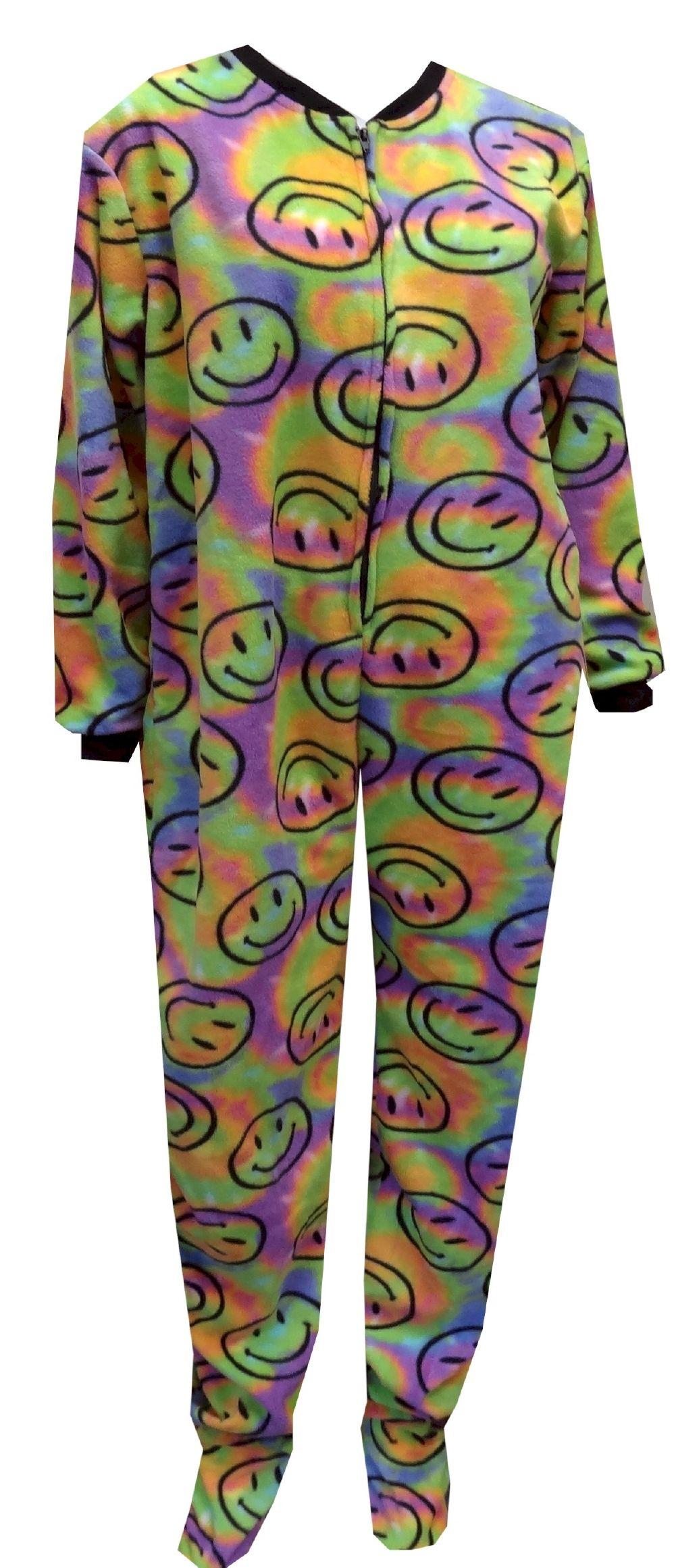 9c73077df Smiley Tie Dye Footie Onesie Pajama Warm and fun! These pajamas for ...