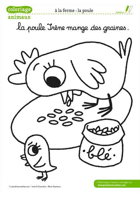 Coloriage Ferme Poussins.Undefined Coloriage Coloriage Animaux De La Ferme Animaux De La
