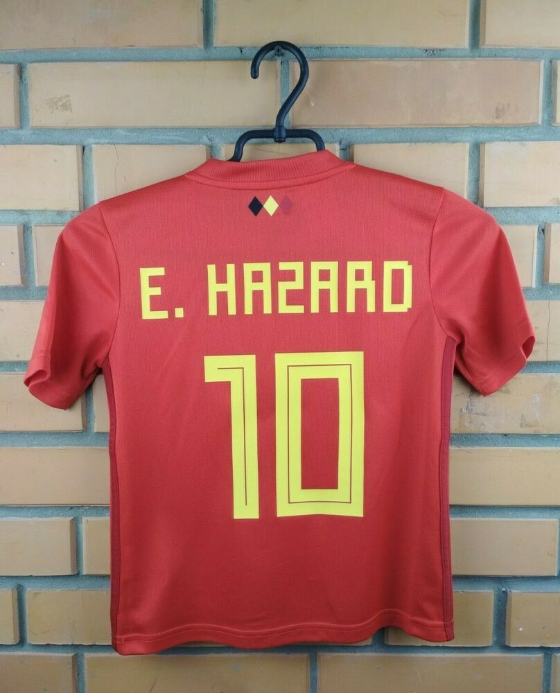 294ce9595 Advertisement(eBay) Hazard Belgium soccer jersey 7-8 years 2019 home shirt  BQ4521