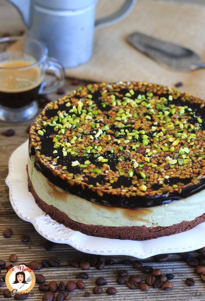 Ricetta Con E Senza Bimby Della Cheesecake Al Pistacchio Con Glassa