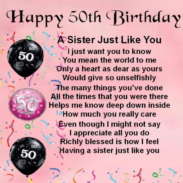 106 Best Happy Birthday Wishes For Sister With Images My Happy Birthday Wishes Happy 50th Birthday Wishes Happy 50th Birthday Sister Birthday Wishes For Sister