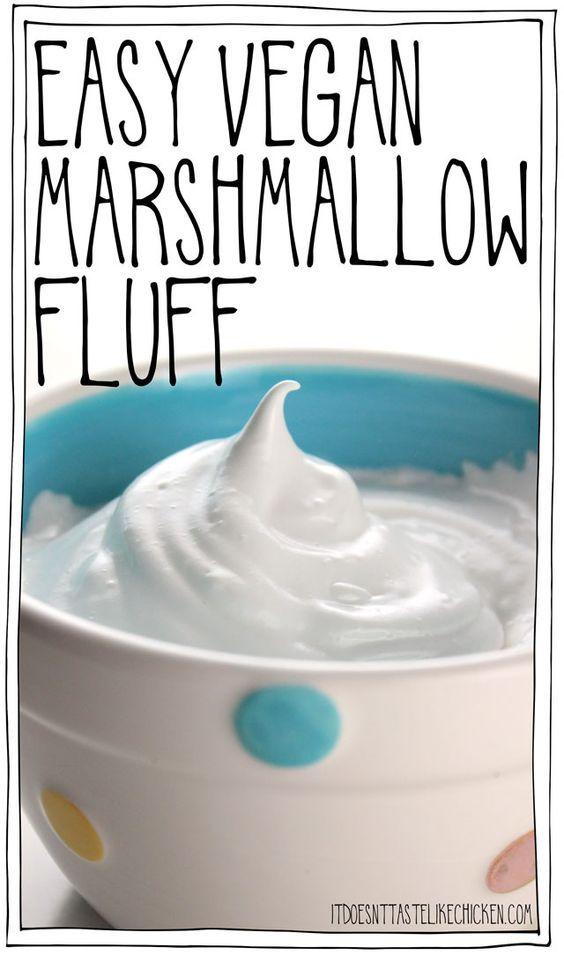 Easy Vegan Marshmallow Fluff #marshmallowfluffrecipes