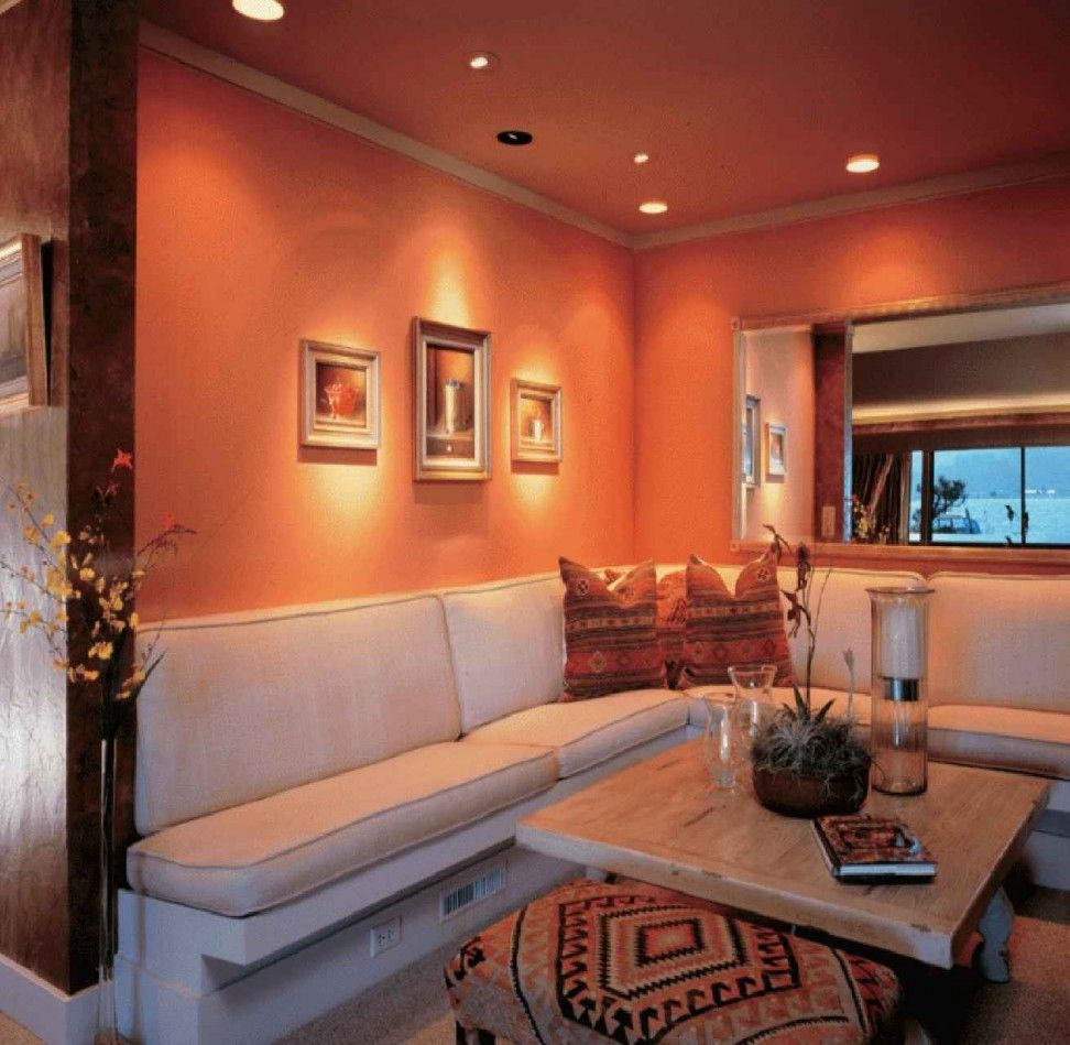 12 Spanish Home Decorating Ideas Cheerful Style Of Living Room In Peach Inspiration
