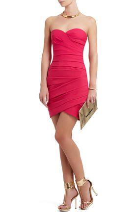Madge Strapless Ruched Cocktail Dress | BCBG